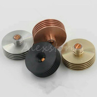Wholesale Wholesale Copper Sinks - Heatsink with 6 colors stainless steel gold black red copper rainbow Heat sink heat dissipation 510 adapter connector for vape rda rba DHL