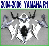 Wholesale Lowering Kit For R1 - 100% Injection molding lowest price fairings set for YAMAHA 2004 2005 2006 YZF R1 white black motorcyccle fairing kit 04-06 yzf-r1 RY33