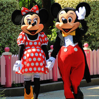 Wholesale Carnival Costumes Couples - Couple Mickey Minne Mouse Cartoon Mascot Costume school mascots character Men costumes for guys fast ship