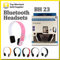 Wireless Stereo Bluetooth Headphone BH 23 Bluetooth Headset Headphone Fones de ouvido Microfone Resposta Chamando o telefone Iphone esperto com caixa
