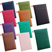 Wholesale Card Protector Wallet - New Arrivals Passport Wallets Card Holders Cover Case Protector PU Leather Travel 10 Colors 14.2*9.8CM EG7 Free Shipping