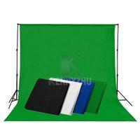 mavi beyaz arka planlar toptan satış-Ücretsiz DHL 3x6 M Gri Mavi Siyah Beyaz Yeşil Fotoğraf Stüdyosu Muslin Backdrop Fotoğrafçılık Pamuk Arkaplan 10x20ft