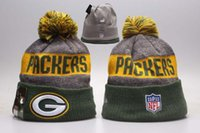 Wholesale Embroidered Football - 2017 Wholesale winter Beanie Knitted Hats All 32 Teams l football beanies sports team Women Men popular fashion winter hat
