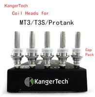 Wholesale Mt3 Coil Head Atomizer - Kanger Protank Coils Single Coil fit for eVod MT3 T3S GS H2 unitank Atomizers Replacement Coil unit heads 1.5 1.8 2.2 2.5 ohm Free shipping