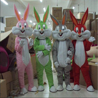 костюм для взрослых оптовых-Оптовая профессиональный пасхальный кролик костюм талисмана ошибки серый кролик Заяц взрослых необычные платья мультфильм костюм необычные платья