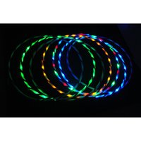 Atacado- Luz colorida Light Hula Hoop Fitness Equipamentos LED Plus Hula Hoop Sports Fitness Crescimento Body Building 60cm 70cm 80cm 90cm
