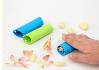 Wholesale Peeled Garlic Wholesale - New Arrival Magic Silicone Garlic Peeler Peel Easy Kitchen Tool Free Shipping Wholesale HG-1206