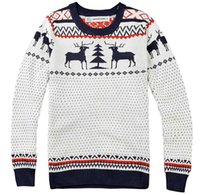 Wholesale Men S Sweater Deer - Winter New Fashion Man Brand Deer Knitting Christmas Sweater Pullover Men Long Sleeve Slim Fit Sweaters O-Neck Jumper Pull Homme