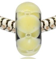 ingrosso tubi di vetro-Vendita al dettaglio all'ingrosso di nuovo arrivo placcato argento tubo di vetro di Murano Murano Glass Charm Bead per bracciale Pandora