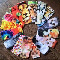 Wholesale Topshop Wholesales - 20styles adult men women TOPSHOP 3D socks new cartoon animal pattern low cut ped Socks young teenager socks