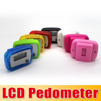 Wholesale Mini Digital Step Counter - New Pocket LCD Pedometer Mini Single Function Pedometer Step Counter LCD Run Step Pedometer Digital Walking Counter 100pcs