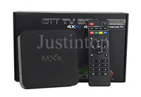 Wholesale Mx Internet Tv Box - Original MXQ 16.1 Rooted Smart Android 4.4 TV BOX Fully Loaded Full HD IPTV Live TV Movies Sports MX Media Player With Internet