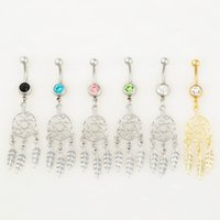 Wholesale Styles Body Jewelry - 0529-1 body jewelry Nice style Navel Belly ring 10 pcs mix colors stone drop shipping factory price