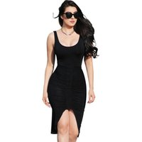 Wholesale Badage Dresses - Summer Sexy Slim Sleeveless Dress 2016 Bodycon Backless Club Dress Vestidos Femininos Women Elegant Badage Dress