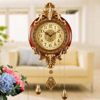 bester wanduhr aufkleber groihandel-Retro-Stil Vintage-Holz-Wanduhren mit Pendel antiken Stil 206metal 0.201.007 Platte