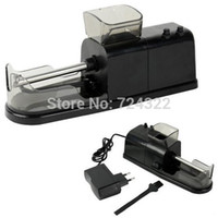Wholesale Electric Cigarette Injector Rolling Machine - Mini Automatic Electric Cigarette Rolling Machine filter Pipe Tobacco cigaret herb grinder Roller Injector Maker Free Shipping