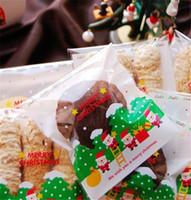 çerez paketleme torbaları toptan satış-Noel Kek Kurabiye Çantası Çevre Dostu Paket Gingersnap Yeni Yıl Mutfak (100 adet) Ekmek Kızartma Ambalaj Ambalaj Poşetleri
