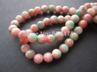 """Wholesale Color Metal Spikes - Free Shipping 8mm Natural stone beads Round Pink Green Color 15.5"""" Fashion beads for bracelet Necklace"""