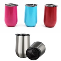 Wholesale Fda Form - New 16oz Stainless Steel Cups Wine Glasses Vacuum Insulated cups 16 oz Tumbler Outdoors Travel Mugs Wine cups with Lid Egg Cup