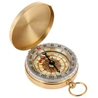 Wholesale Copper Compass - Travel Compasses G50 High Quality Pocket Style Classic Compass for Outdoor Travel Golden Colour Outdoor Gadgets Camping Survival Tool