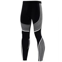 Wholesale Colorful Designed Leggings - Wholesale- Compression Tights Colorful Line Design Long Pants Fitness Leggings Men Slim Fit Wear Joggers Exercise Bodybuilding Trousers