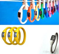 Wholesale Ion Sports Bracelets - wholesale Cheap LED watches girl boy sport Anion Negative Ion Fashion Silicone LED Bracelet DHL Free Shipping