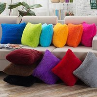 Wholesale Hospital Fashion - Cushion Cover Square Throw Pillow Case Fashion Style Sofa Decoracion for Christmas Restaurant Home 45 X 45CM Plush