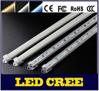 0,5M novo 8W 5630 LED Bar U Groove Light 50CM Não impermeável 72LEDs / M LED Rigid Strip DC 12V 5630 LED Tube Hard