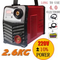 Wholesale Inverter Arc Welding Machine - Plastic panel 220V 240V New protable suitable 4.0MM electrode IGBT inverter DC welding machine equipment  tool with accessories and eyes mas