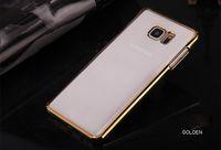 borde ultra delgado samsung s6 al por mayor-0.3mm Ultra Thin PC Phone Case para Samsung s5 s6 Edge / Note 3 4 5 A7 A8 transparente cáscara dura funda protectora resistente a la caída