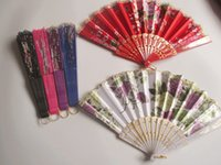"Wholesale Lace Hand Fans Wholesale - Wedding Fans Ladies Hand Fans Advertising and Promotional Folding Fans 7"" Dancing Lace Fans Bridal Accessories Guest Gift"
