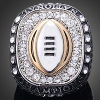 Wholesale Free State Steel - Championship jewelry Titanium steel 316 L Ohio state university Buckeye team championship rings collection Free shipping