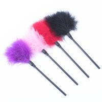 W1028 4 Farben Feather Tickler Kinky Bondage Fancy Dress Up Peitsche Spanking G Sex Aid Spielzeug Sex Produkt