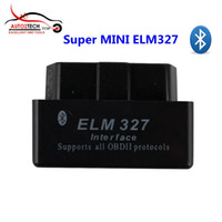 2016 NOUVEAU Super MINI ELM327 Version Bluetooth OBD2 Diagnostic Scanner Software V2.1 (Noir) Livraison gratuite