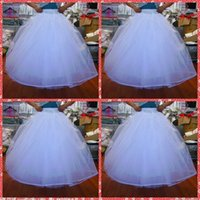 Wholesale White Skirt Slip - Cheapest In Stock 2015 Ball Gown No Hoops Crinoline Bridal Organza Petticoats For Wedding Dress Wedding Skirt Accessories Slip Six Layers