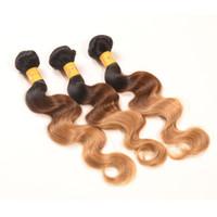 peru karışımı saç 22 toptan satış-Fabrika Tedarikçisi En Iyi Fiyat Perulu Ombre Saç Uzantıları Vücut Dalga Bakire Ombre Saç Örgü Mix Uzunluğu 10-30 Perulu İnsan Saç