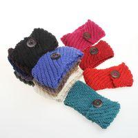 headband cabelo trança venda por atacado-Moda Feminina Adulto Lady Crochet Outono Inverno Malhas de Malha Quente Hoop Largura Plait Headbands orelha mais quente Estiramento de Lã Faixas de Cabelo D699M