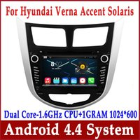 Wholesale Dvd For Hyundai Accent - Android 4.4 Car DVD GPS Navigation for Hyundai Verna Accent Solaris 2011 2012 with Radio BT USB SD MP3 DVR 3G WiFi Audio Stereo Head Unit