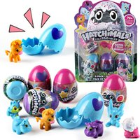 Wholesale Toy Rubber Eggs - 2018 HOT Update Version Hatchimals 4 Pcs set Hatching Egg Children Edu Funny Toys Christmas Gifts for Kids toy021