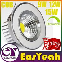 Wholesale Installing Led Recessed Lighting - Crazy 30% OFF CREE 9W 12W 15W Dimmable COB LED Downlights Easy to install Tiltable Fixture Recessed Ceiling Down Lights Lamps CSA UL SAA