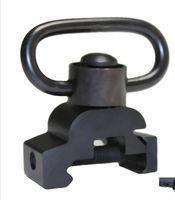 Wholesale quick weaver - Tactical Quick Release Push Button Sling Swivel Loop QD Sling Swivel Attachment 20mm Picatinny Weaver Rail QD Mount Comb Base Heavy Duty
