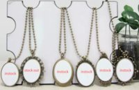Wholesale Europe Style Necklaces - Sublimation plain Blank pendants Europe court style women popular individuality necklace custom picture logo pendant jewelry
