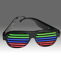 Wholesale Sound Activated Novelties - Wholesale-2015 Newest Frame LED Sound Activated Novelty Sunglasses Glow In The Dark Sunglasses For Novelty Products For Import