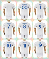Wholesale Beckham Uniform - Customized Uniforms Kit 2018 World Cup Country Jersey England #7 Beckham #8 Lampard #9 KANE #10 Rooney #20 BARKLEY 17-18 White Home Jerseys