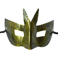 Wholesale Masquerade Cool Party - Retro Swallowtail Design Party Mask Halloween Masquerade Classic Cool Performance Mask for Male Cosplay Props 10pcs lot SD988