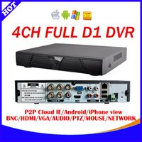 Wholesale D1 Mobile Dvr - Xmeye P2P cloud 4channel full realtime 960H D1 CCTV DVR recorder Network Standalone 4CH DVR Recorder iPhone Android mobile view
