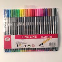 marqueurs d'esquisse achat en gros de-Crayons à dessin Fineliner 0,4 mm Dessin Esquisse Finecolour Art Line Liner Pen Stylos à encre à base d'eau assortis