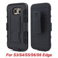 Wholesale Cell Phone Case Belt Clip - Future Armor Impact Hybrid Hard Case Belt Clip Holster Kickstand Combo For Samsung Galaxy S3 S4 S5 S6 Edge cell phone cases cover