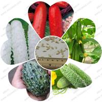 pc sieben großhandel-100% echte Gurkensamen rot gelb weiße Gurke sieben Arten von Auswahl Balkon Garten Obst und Gemüse - 50 Stück