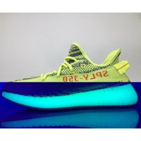 Wholesale Glow Dark Lighting - 2017 SPLY 350 Boost V2 Shoes Semi Frozen Gum Glow in Dark Yellow Zebra B37572 Running Shoes Beluga Bred Black Red 12 Color